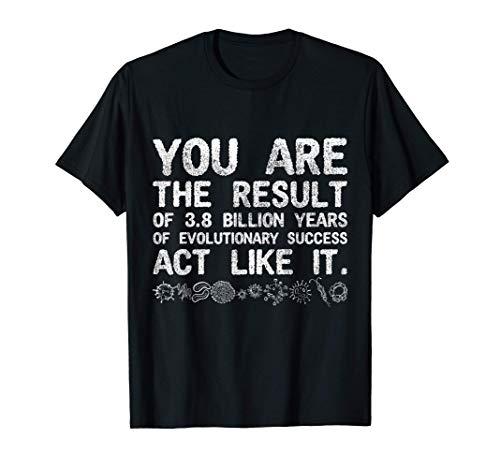 Ciencia Evolución Biológica Humana Profesor De Biología Camiseta