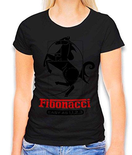 Fibonacci Ferrari – Camiseta para mujer – Muchos colores/S – XXL Negro M