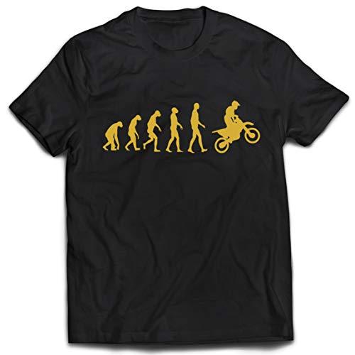 lepni.me Camisetas Hombre Evolución del Motocross Equipo de Moto Ropa de...