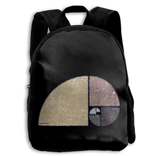 ADGBag Mochila para niños School Backpack Distressed Geometric Fibonacci Spiral...