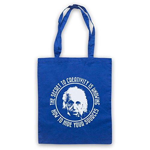 My Icon Art & Clothing Albert Einstein Secret To Creativity Bolso, Azur Real