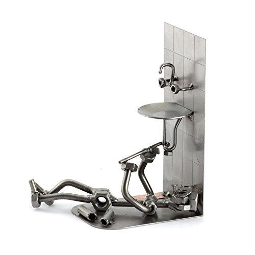 Steelman24 I Fontanero I Made in Germany I Idea para Regalo I Figura de metalo