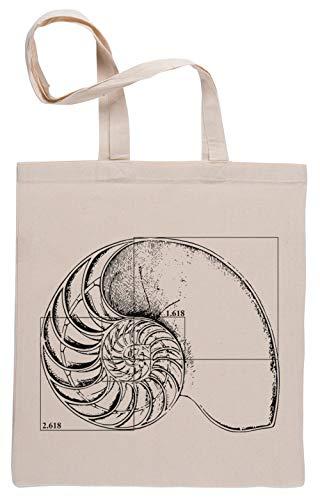 Fibonacci En Una Nautilo Cáscara Bolsa De Compras Shopping Bag Beige