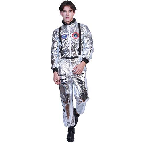 EraSpooky Astronauta Disfraz Plateada para Hombre Cadete del Espacio Americano...