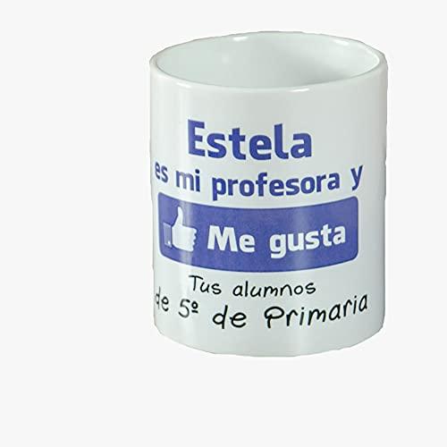 Calledelregalo Regalo para Profesores Personalizable: Taza 'me Gusta mi...