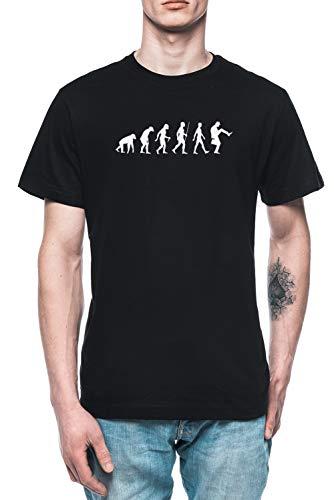Evolución De Hombre Hombre Camiseta tee Negro Men's Black T-Shirt