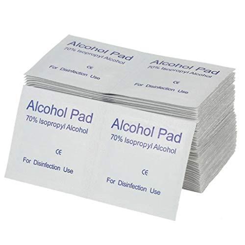 Diamoen 100PCS / Set de Maquillaje portátil hisopos con Alcohol Pads toallitas...
