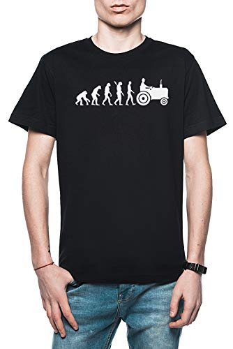 Rundi Evolución Tractor Hombre Camiseta Negro Tamaño M - Men's T-Shirt Black