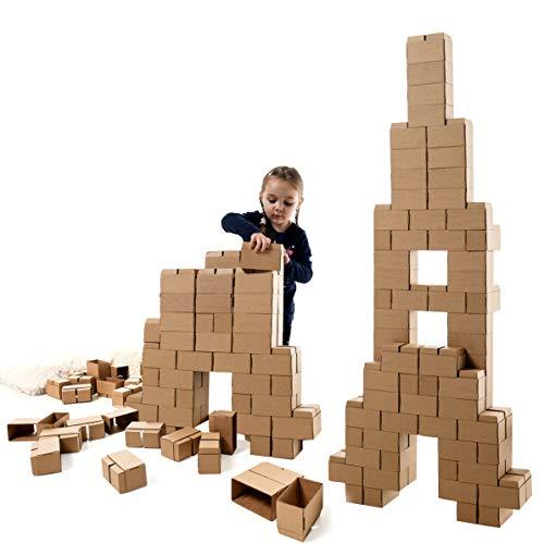 GIGI Bloks Bloques de Construcción Gigantes de Cartón Para Niños, Set de...