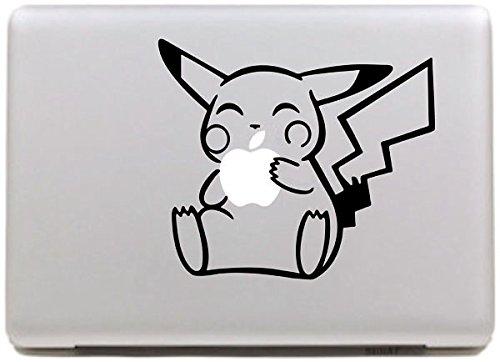 Vati Hojas desprendibles Creativo Pikachu Calcomanía Etiqueta Piel Linda Arte...