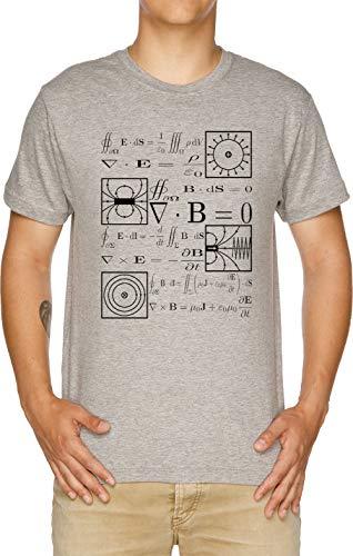 Vendax Maxwells Ecuaciones Camiseta Hombre Gris
