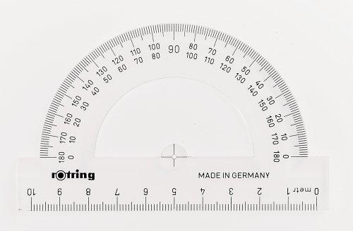 Rotring Centro transportador semicircular de 10cm