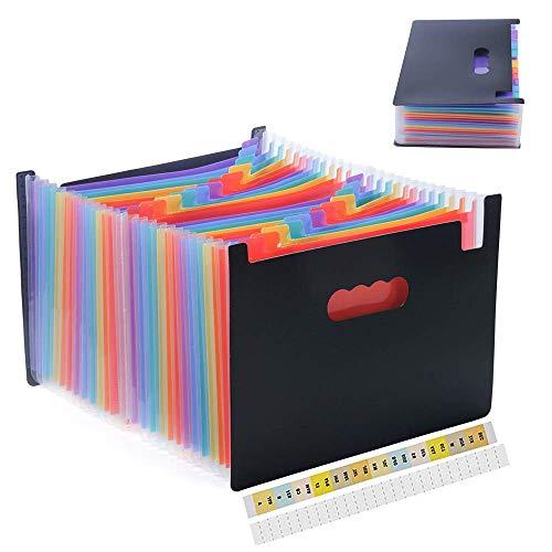 Amaza Clasificadores Carpetas de Acordeón, Colores Archivador Acordeon 24...