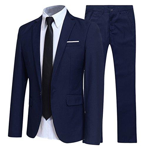 Traje de 2 piezas para hombre compuesto por chaqueta y pantalones, ajuste...