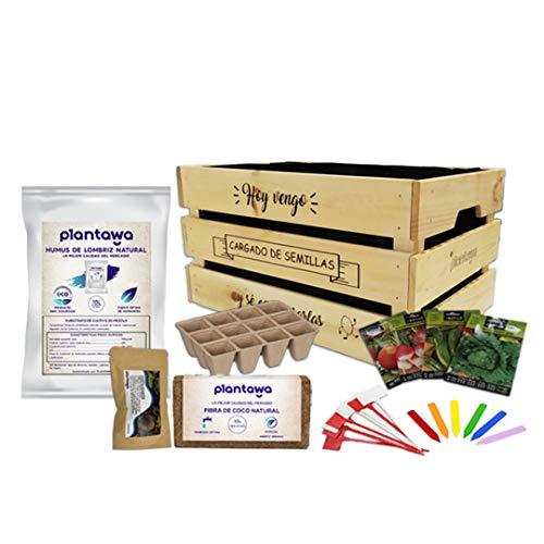 PLANTAWA Kit de Cultivo, Huerto Urbano, Kit de Cultivo Completo Fabricado en...