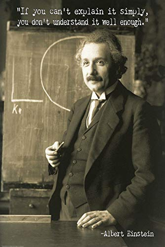 Póster Albert Einstein - If you can't explain it simply (61cm x 91,5cm) + 2...