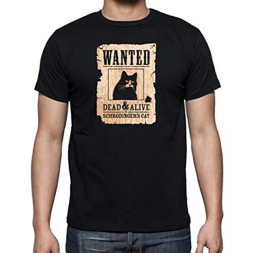 The Fan Tee Camiseta de Hombre Ciencia Gato Schrodinger Ciencia Divertidas M