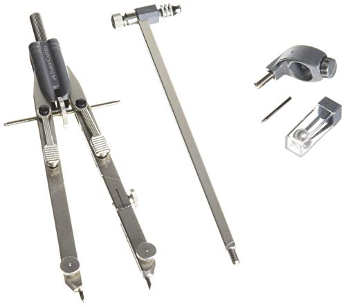 Faber Castell - 174607 - Compás de barandilla metálica de ajuste rápido en...
