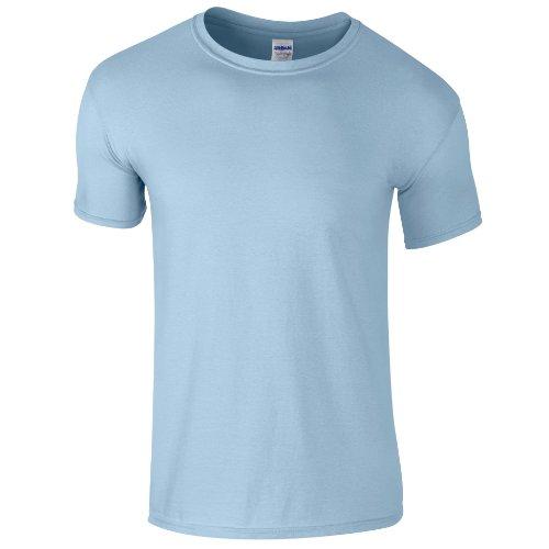 Gildan - Suave básica Camiseta de Manga Corta para Hombre - 100% algodón Gordo...