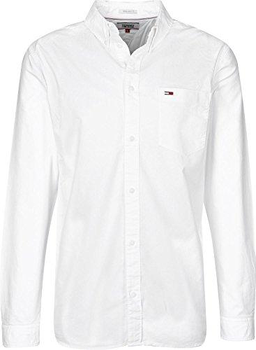 Tommy Hilfiger Tommy Classics Camisa, Weiß (Classic White 100), Medium para...