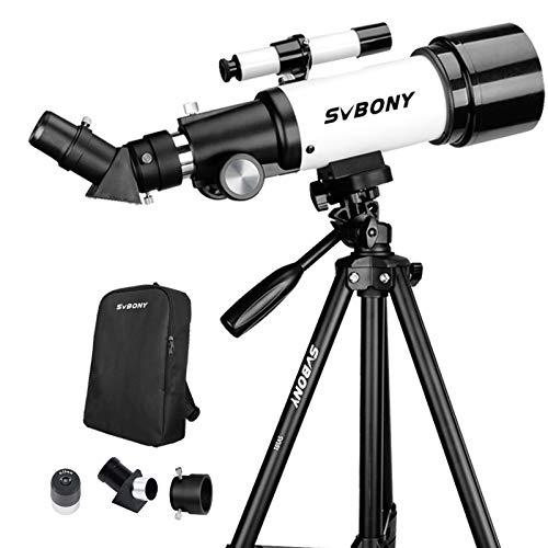 Svbony SV501P Telescopio Astronomico Profesional,70/400mm Telescopio para Niños...