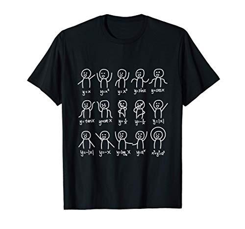 Álgebra Danza Gráfico Divertido Figura Ecuación Matemática Camiseta
