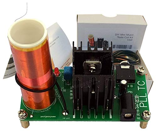 AUMED Bobina de Tesla Mini Music Tesla Coil Plasma Speaker Kit de transmisión...