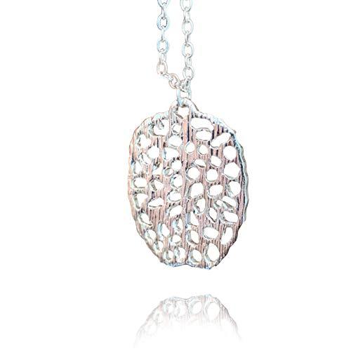 Maia's Jewlery - Collar Mujer Cerebro - Bañado en Plata 925 - Joyeria Mujer...