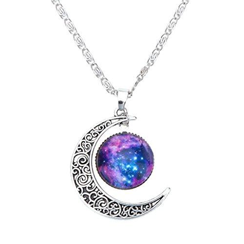 Collar Cadena Ajustable Colgante Luna Creciente Joyería Regalo para Mujer Moda...