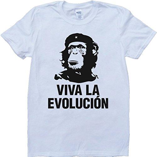 Viva La Evolución Blanco por Encargo T-Shirt - Large