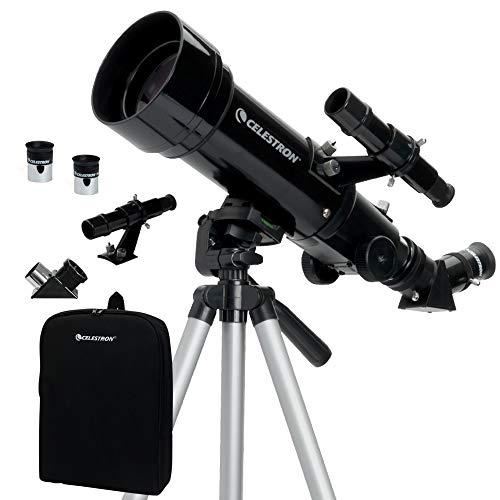 Celestron Travel Scope 70 - Telescopio portable con ampliación de 20x, longitud...