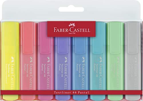 Faber-Castell 154681 - Estuche con 8 marcadores fluorescentes tonos pastel y 2...