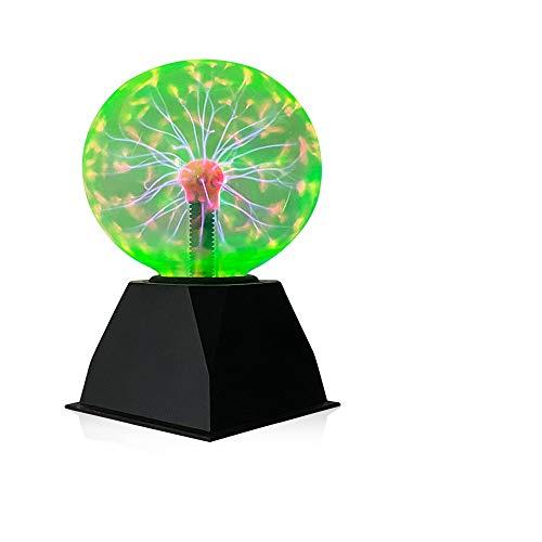 Luz de bola de plasma,6 Pulgadas Luz de Plasma Mágica, Lámpara Estática de...