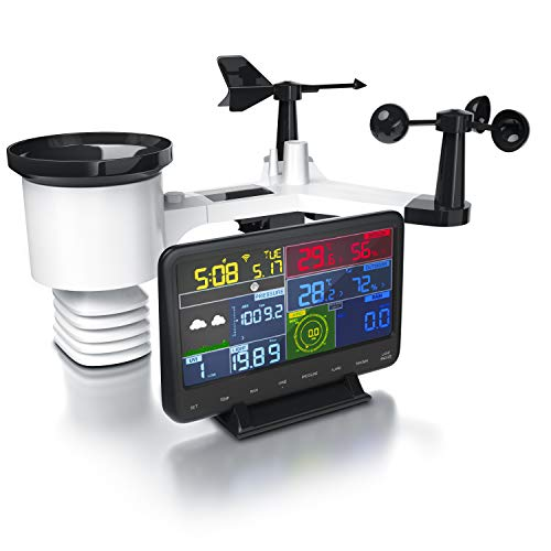 Brandson - Estación Meteorológica radio WiFi - Sensor Exterior - Barómetro -...