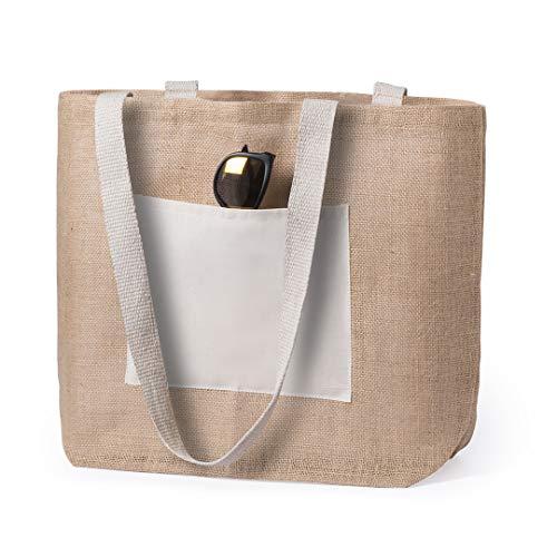 Bolsas de yute reutilizables, tote bag ecológico, biodegradable, Bolsa de...