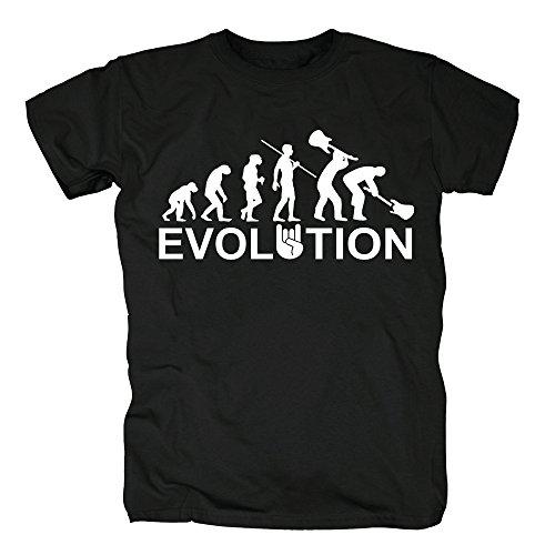 TSP Evolución Heavy Metal Trash Camiseta para Hombre T-Shirt XL Negro