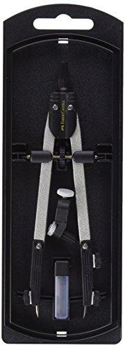 Faber-Castell 32722-8 - Compás de ajuste rápido, con tornillo central,...