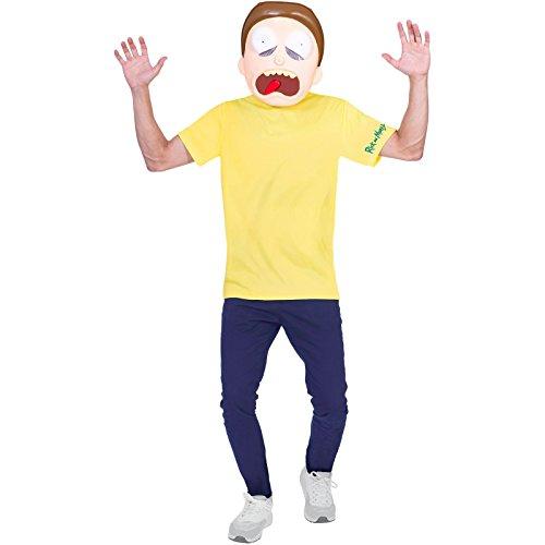 amscan 9904221 - Disfraz de adulto con tema Morty, extra grande, 1 unidad, color...