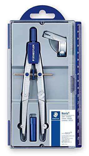 Staedtler NORIS CLUB 550 01, compás escolar de precisión con rueda de ajuste