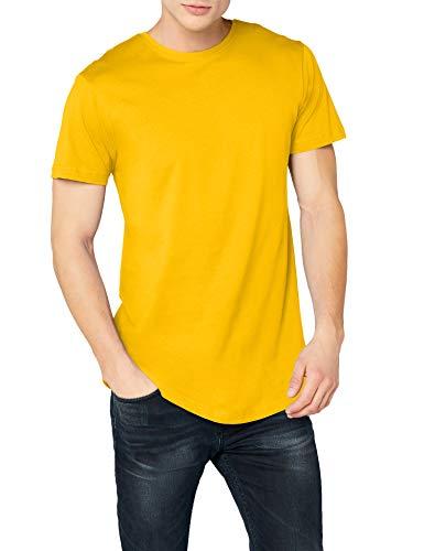 Urban Classics Shaped Long tee Camiseta, Amarillo (Chrome Yellow), XXL para...