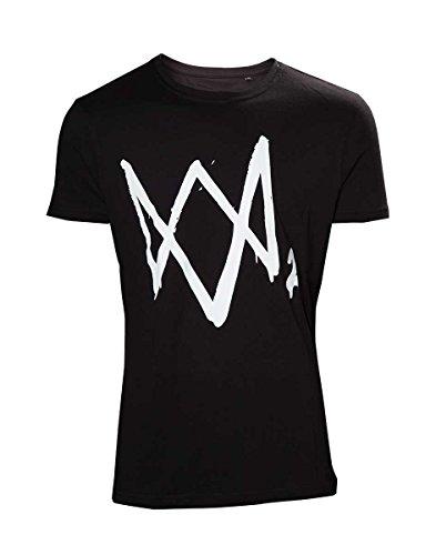 Watch Dogs 2 con logotipo camiseta negro de algodón - XL