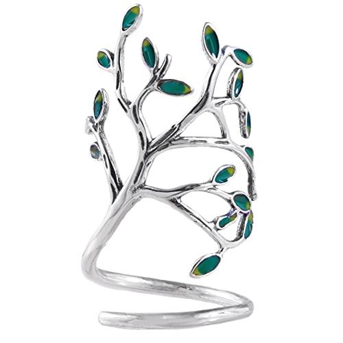 Anillo abierto de plata de ley con diseño de árbol de la vida, de Helen de...
