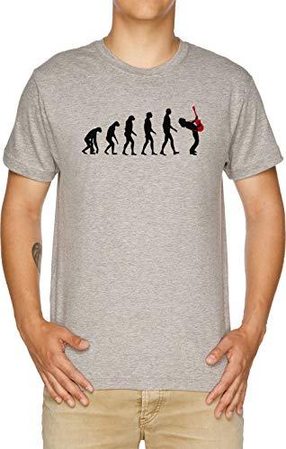Rock Evolución Camiseta Hombre Gris