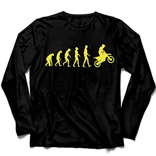 lepni.me Camiseta de Manga Larga para Hombre Evolución del Motocross Equipo de...