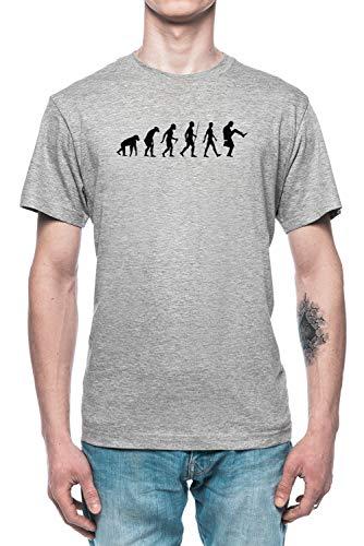 Evolución De Hombre Hombre Camiseta tee Gris Men's Grey T-Shirt