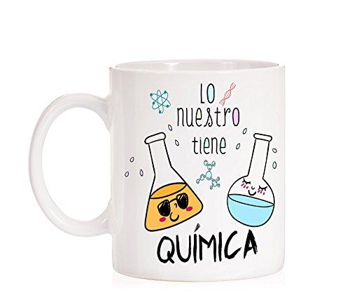 Taza Lo Nuestro Tiene Química. Taza Regalo de Amor para los Amantes de la...