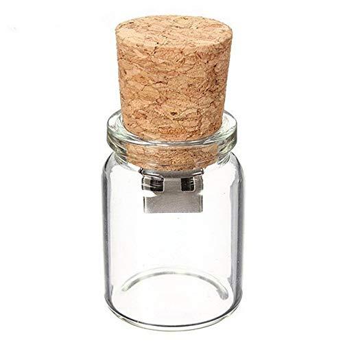 Botella Corcho Vaso - 32 GB – Cork Glass Bottle - Memoria Almacenamiento de...