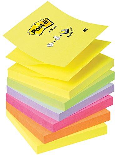Post-It R-330-Nr - Notas Adhesivas, 6 Unidades, Multicolor (Arcoiris de Neón)