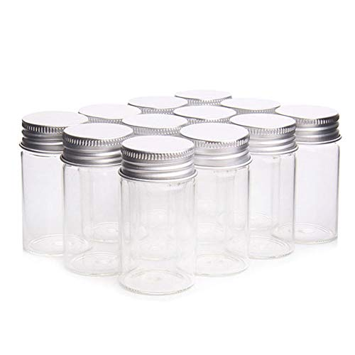 HARVARD 24pcs Tarros de Vidrio,Mini Bote de Cristal Transparente con Tapa de de...