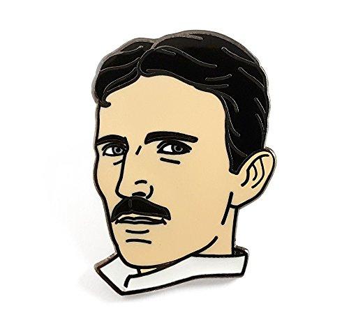 Pinsanity Nikola Tesla - Pin de solapa esmaltado